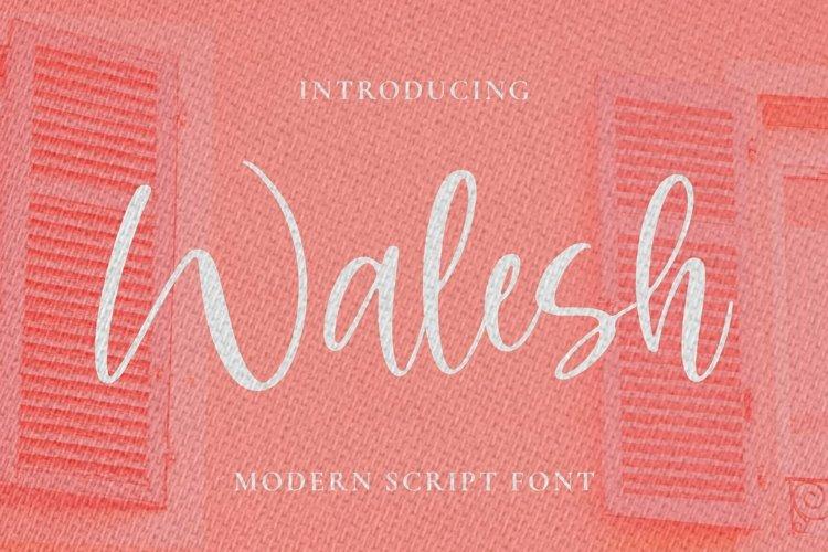 Web Font Walesh example image 1
