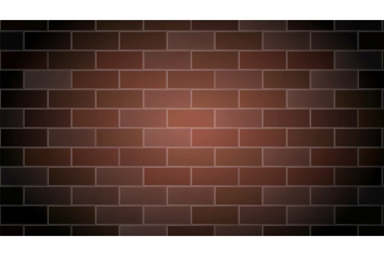 Brick Wall Background Cement Relief Texture Vector