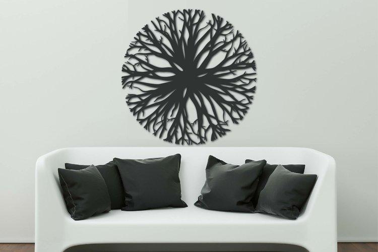 Tree decorative panel SVG, File for Cricut, Laser, CNC plan