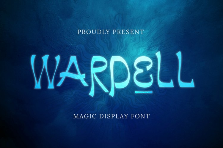 Web Font Wardell Font example image 1