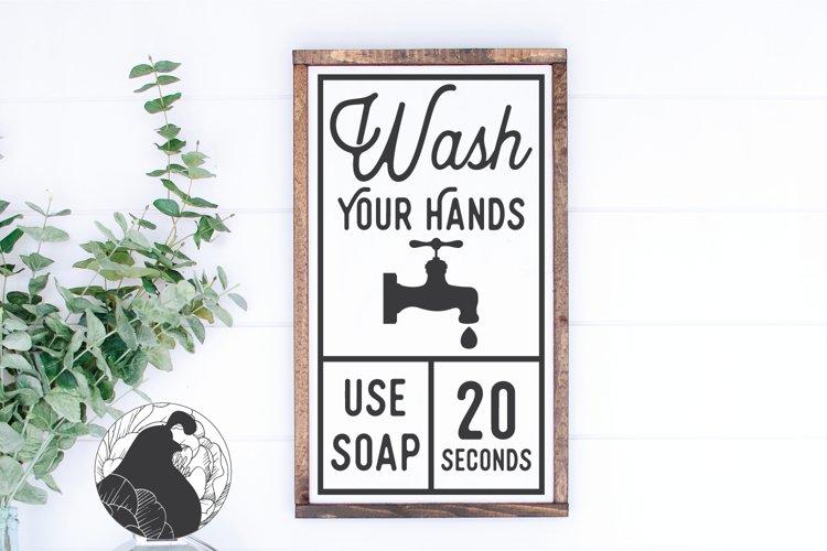 Wash Your Hands SVG, Bathroom Sign SVG, Farmhouse SVG