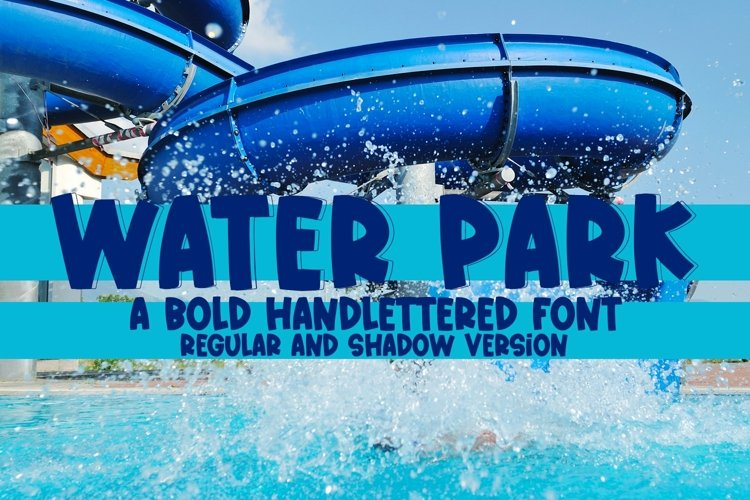 Web Font Water Park - A Quirky Handlettered Font example image 1