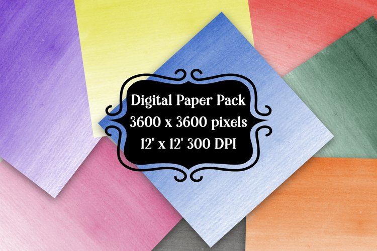 Ombre watercolor digital paper pack for scrapbooking