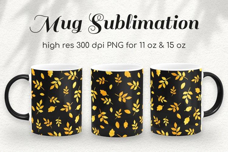 Autumn Gold Coffee Mug Sublimation Template 11oz & 15oz