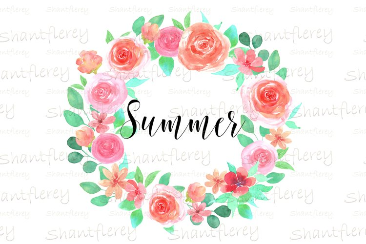 Floral Summer Sublimation, Watercolor Wreath Sublimation