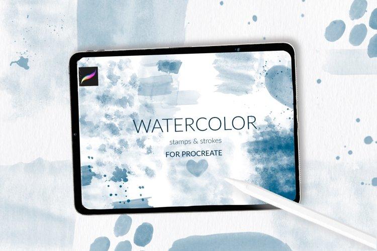 Watercolor strokes for Procreate