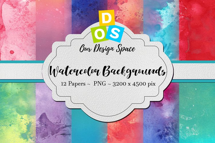 Watercolor Backgrounds / Hand-painted PNG Digital Papers