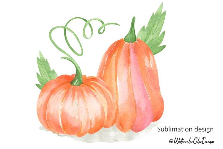 Pumpkin sublimation design