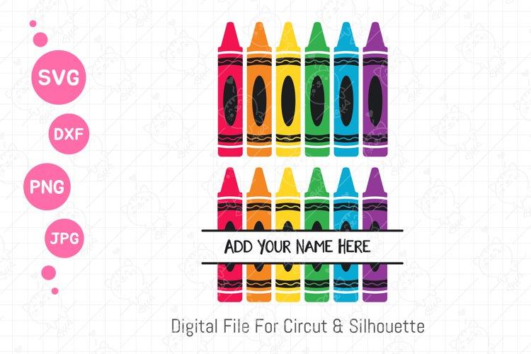 Crayon Svg | Pencil color png | Back to school svg | svg dxf