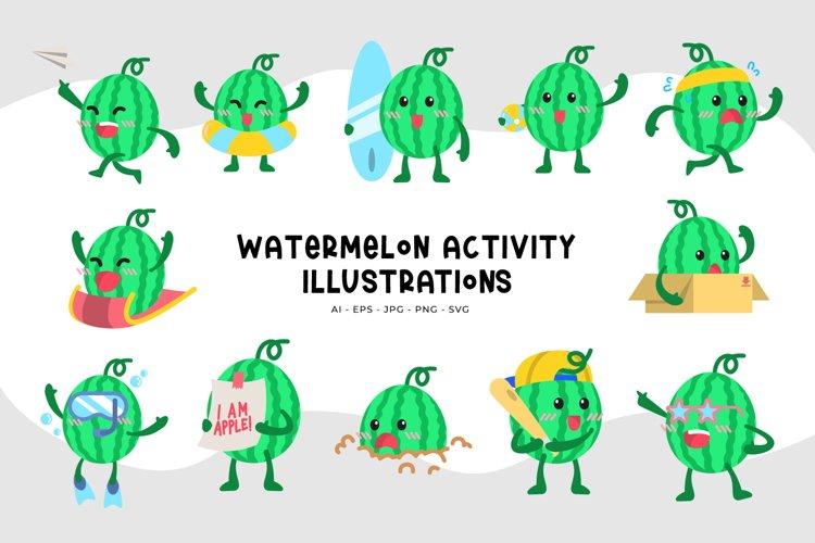 Watermelon Activity Illustrations example image 1