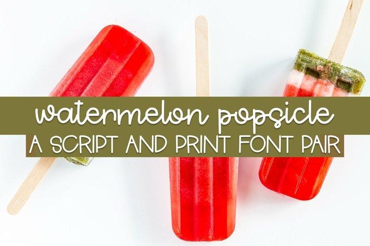 Web Font Watermelon Popsicle - A Script And Print Font Pair