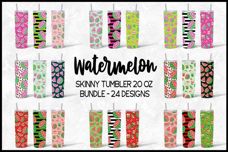 Watermelon Skinny Tumbler 20 Oz Sublimation Design Bundle