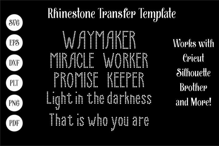 Waymaker - Faith Rhinestone SVG Template