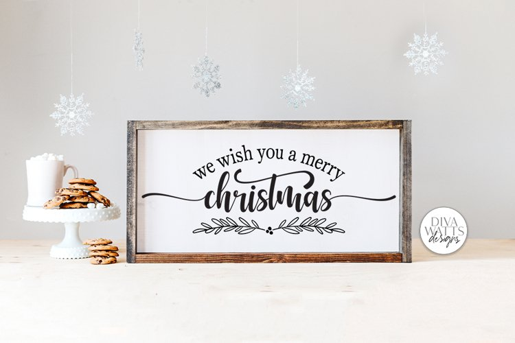 We Wish You A Merry Christmas SVG | Winter Design example image 1