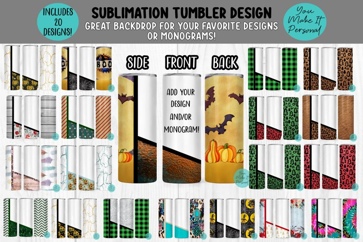 The GIANT Split Tumbler Design Bundle - 20 Designs!