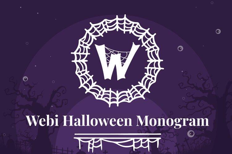 Webi Halloween Monogram example image 1