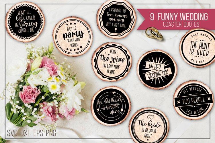 Funny wedding coaster quotes