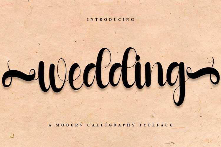 Wedding - A Modern Calligraphy Font example image 1