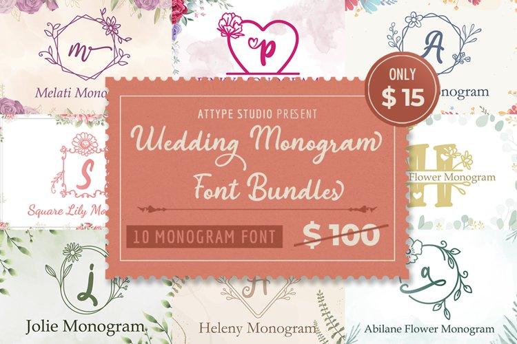 The Wedding Monogram Font Bundle example image 1