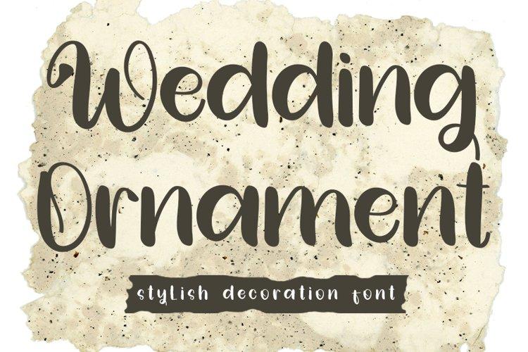 Wedding Ornament - Stylish Decoration Font example image 1