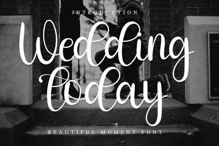Wedding Today - Beautiful Script Font example image 1
