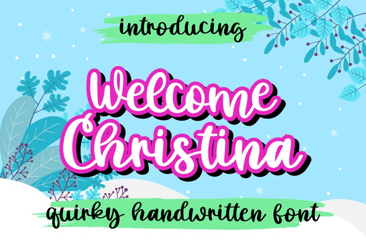 Welcome Christina example image 1