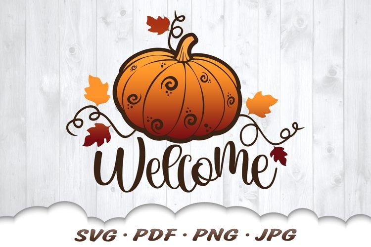 Welcome Fall Pumpkin SVG Cut Files