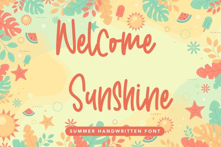Welcome Sunshine - Summer Handwritten Font example image 1