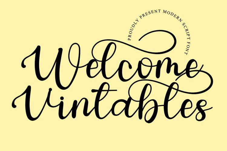 Welcome Vintables - Modern Script Font example image 1