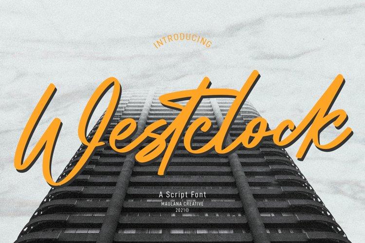 Westclock Script Font example image 1