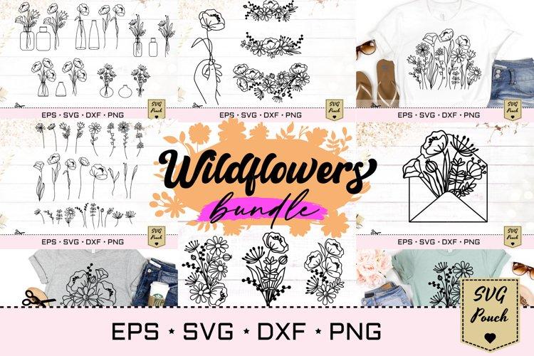 Wildflowers SVG Bundle set example image 1
