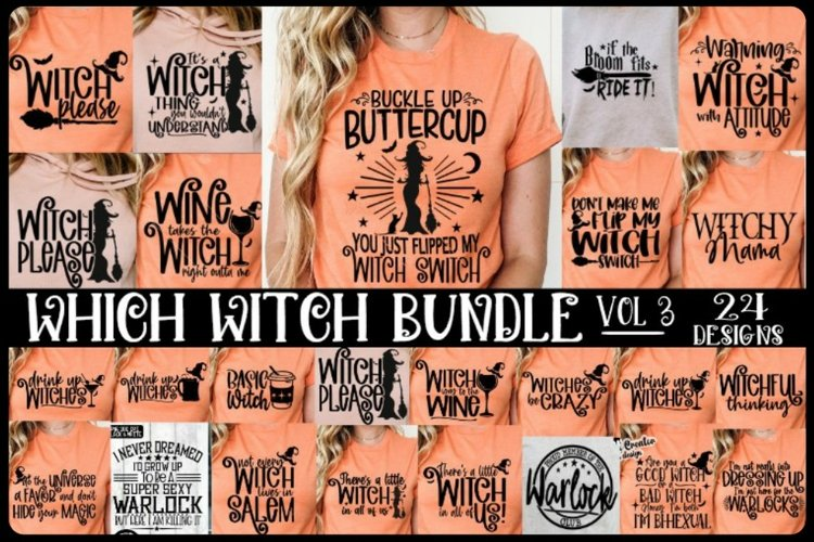 Which Witch Bundle - 24 Designs -Halloween SVG PNG EPS DXF example image 1