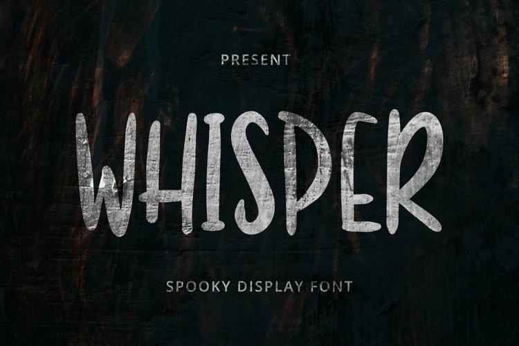 Web Font Whisper Font example image 1