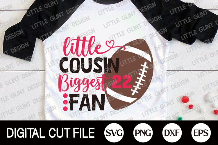 Football SVG, Little brother biggest fan SVG, Football Fan example image 1