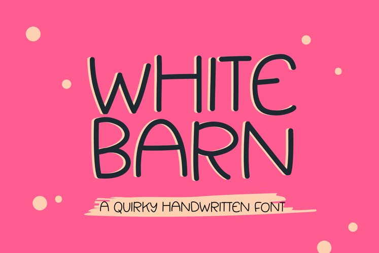 White Barn - a fun quirky handwritten font example image 1