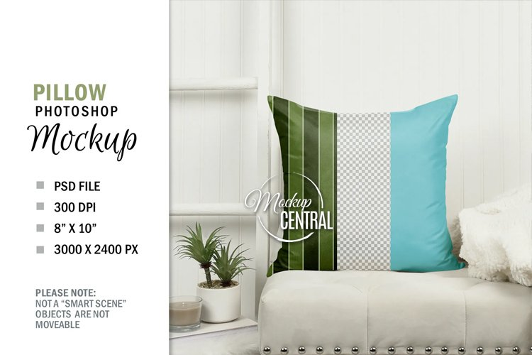 Square Pillow on Chair at Home PSD Graphic Mockup