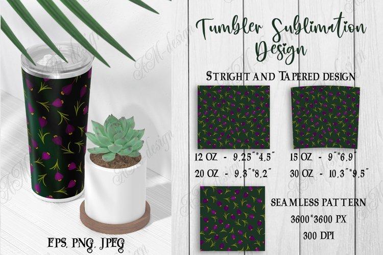 Tumbler sublimation design dark