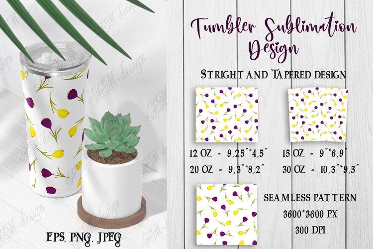 Tumbler sublimation design white