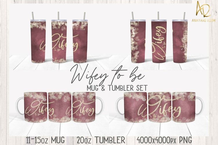 Sublimation  Wifey To Be Bridal Set Wedding Bachelorette PNG