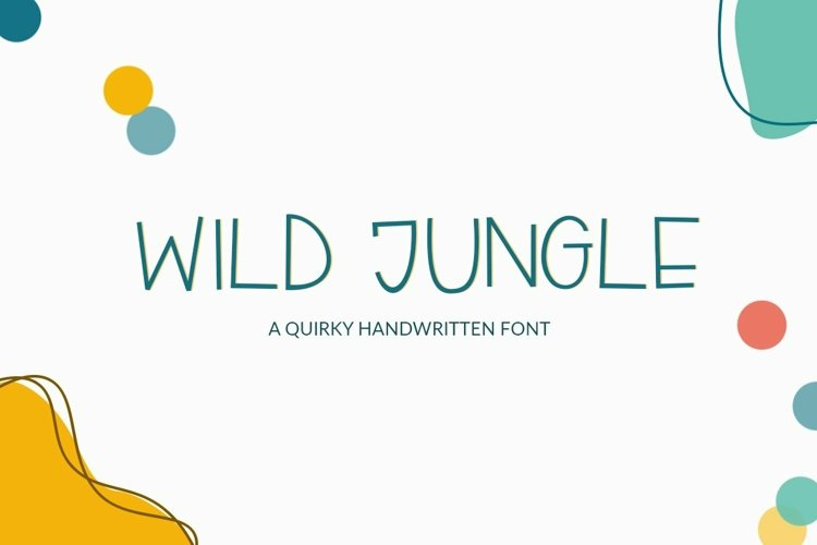 Web Font Wild Jungle - a quirky handwritten font example image 1