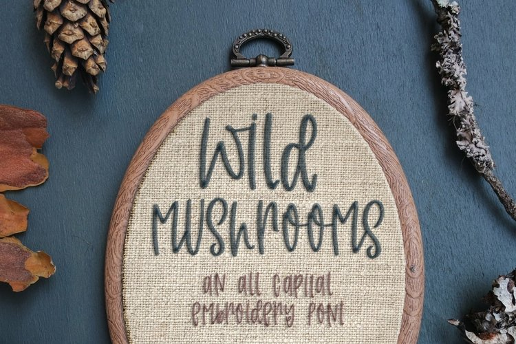 Wild Mushrooms - Embroidery Font example image 1