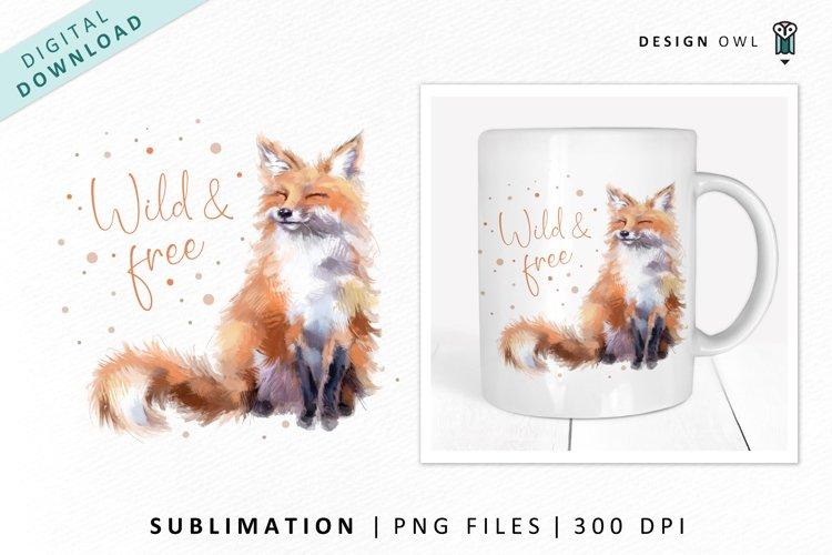 Fox design - Sublimation File