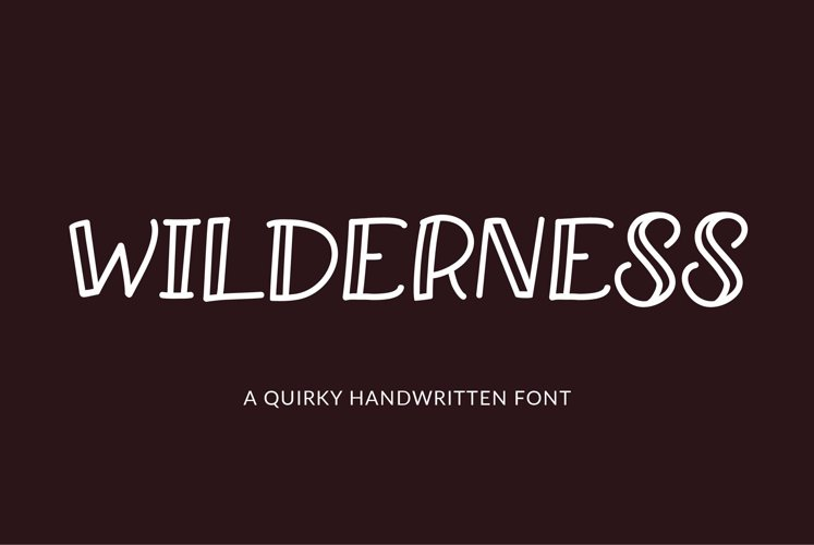 Web Font Wilderness - a quirky handwritten font example image 1