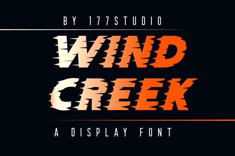 WIND CREEK Font example image 1