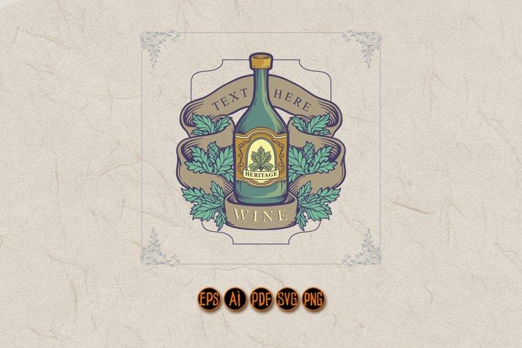 Winery Bottle Badge Vintage Label Logo example image 1