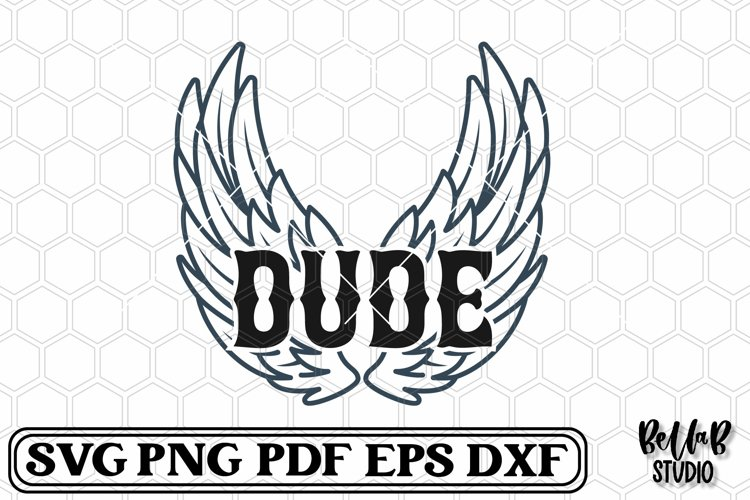 Rock Wings Dude SVG File