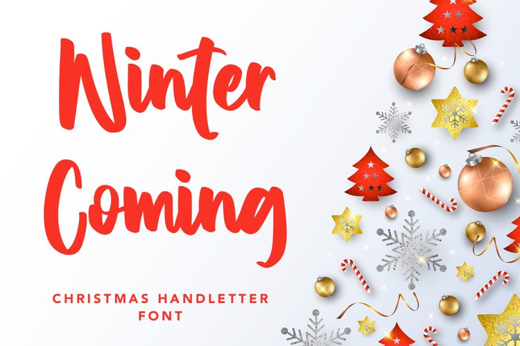 Winter Coming - Crhristmas Handletter Font