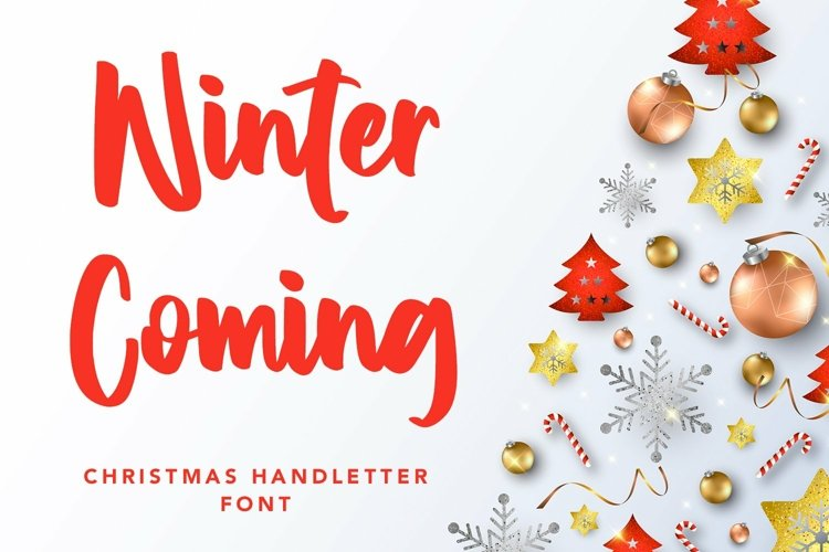 Web Font Winter Coming - Crhristmas Handletter Font example image 1