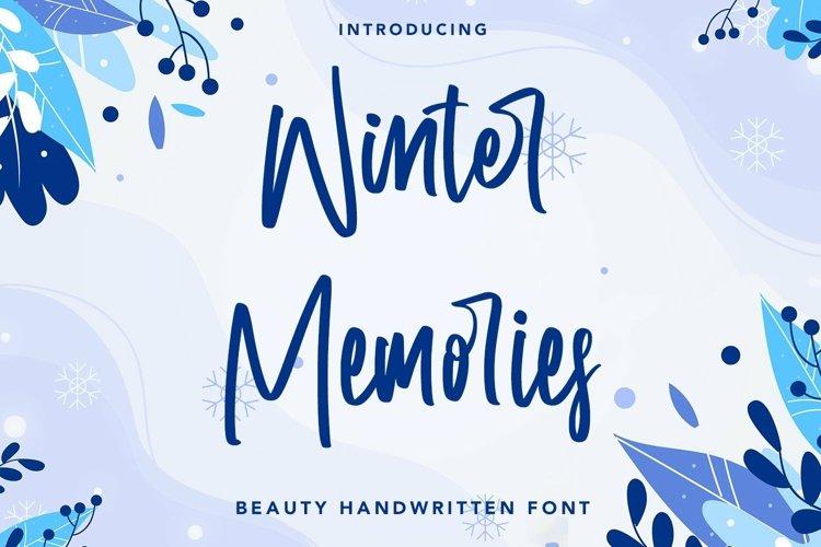 Web Font Winter Memories - Beauty Handwritten Font example image 1
