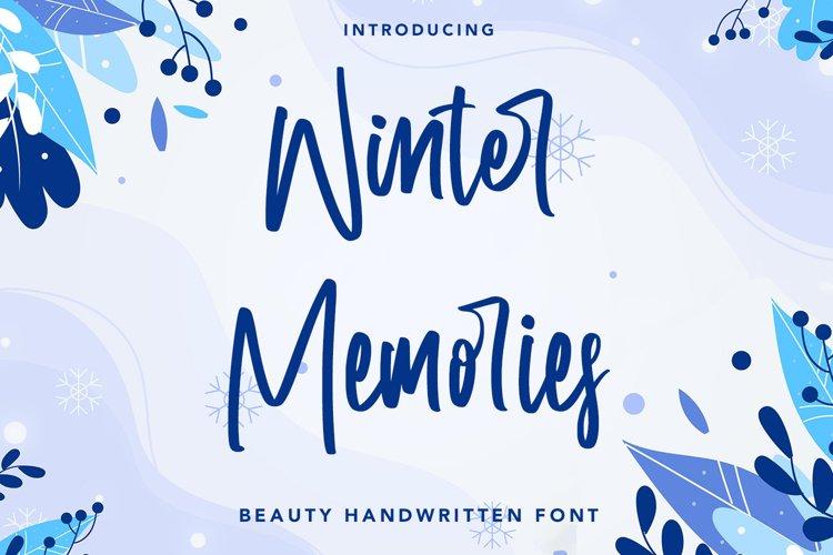 Winter Memories - Beauty Handwritten Font example image 1